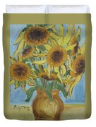 Sunflowers II. Duvet Cover