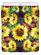 Sunflowers Impressionism Pattern Duvet Cover