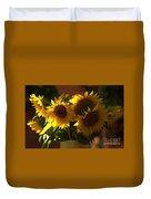 Sunflowers In A Vase Duvet Cover