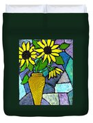 Sunflowers In A Vase Duvet Cover