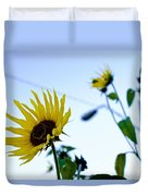 Sunflowers In Fall Duvet Cover