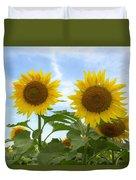 Sunflowers In Texas Summertime 1 Duvet Cover