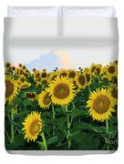 Sunflowers In The Clouds Duvet Cover