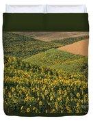 Sunflowers In The Palouse Duvet Cover