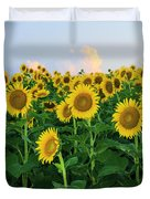 Sunflowers In The Sky Duvet Cover