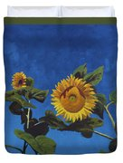 Sunflowers Duvet Cover by Marco Busoni