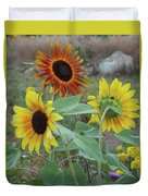 Sunflowers Of August Duvet Cover