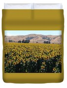 Sunflowers Of Vacaville Duvet Cover