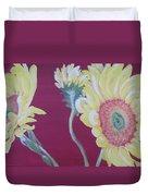 Sunflowers On The Run Duvet Cover