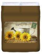 Sunflowers Postcard Duvet Cover