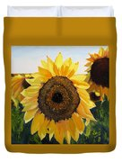Sunflowers Squared Duvet Cover