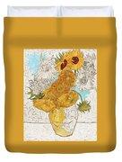 Sunflowers Van Gogh Digital Art Duvet Cover