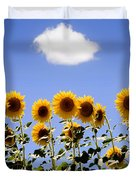 Sunflowers With A Cloud Duvet Cover