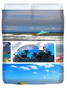 Sunglasses Needed In Paradise Duvet Cover