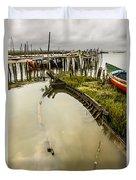 Sunken Fishing Boat Duvet Cover