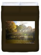 Sunlight And Boats - Central Park -  New York City Duvet Cover