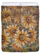 Sunlight Bouquet. Duvet Cover