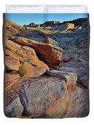Sunlight Fades Out On Valley Of Fire Duvet Cover