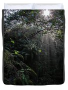 Sunlight Falling Into Glen With Bright Leaves, Vertical Duvet Cover