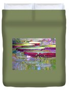 Sunlight On Lily Pads Duvet Cover