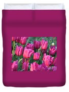 Sunlight On Pink Tulips Duvet Cover