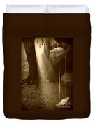 Sunlight On Swing - Sepia Duvet Cover