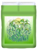 Sunlight On Wet Grass Duvet Cover