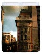 Sunlight Slant On Midtown Duvet Cover
