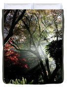 Sunlight Through The Tree In Misty Morning 1. Duvet Cover