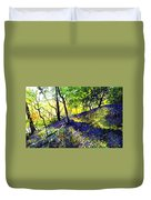 Sunlit Bluebell Wood Duvet Cover