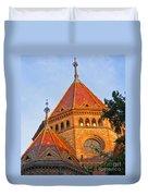 Sunlit Church Aglow Duvet Cover