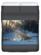 Sunlit Creek  Duvet Cover