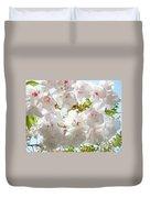 Sunlit Flowers Art Prints White Tree Blossoms Baslee Troutman Duvet Cover
