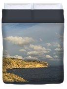 Sunlit Limestone Cliffs In Malta Duvet Cover