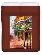 Sunlit New Orleans Duvet Cover