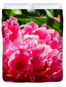Sunlit Pink Peony Duvet Cover