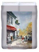 Sunlit Sidewalk - Neshkoro Duvet Cover