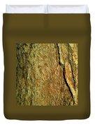 Sunlit Tree Bark Duvet Cover