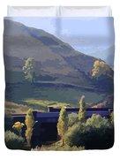Sunlit Valley  Duvet Cover