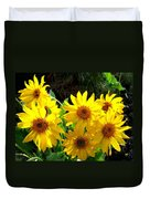 Sunlit Wild Sunflowers Duvet Cover