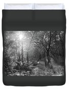 Sunlit Woods, West Dipton Burn Duvet Cover
