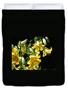 Sunlit Yellow Lilies Art Prints Botanical Giclee Baslee Troutman Duvet Cover