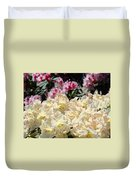 Sunlit Yellow Rhodies Art Print Creamy Rhododendrons Flowers Baslee Troutman Duvet Cover