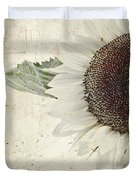 Sunny Albino Sunflower Duvet Cover