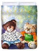 Sunny And Caramel And Truffle Mcfurry Duvet Cover