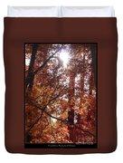 Sunny Autumn Day Poster Duvet Cover