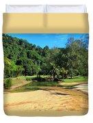 Sunny Beach Tioman Island Duvet Cover