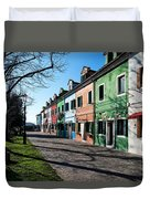 Sunny Colors Of Burano Duvet Cover