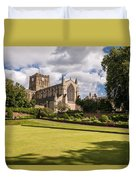 Sunny Day At Hexham Abbey Duvet Cover