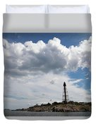Sunny Day At Marblehead Lighthouse Duvet Cover
